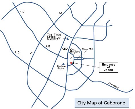 city map of gaborone